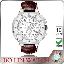 big size stainless steel men watch , Japan Chrono watch ,high quality watch