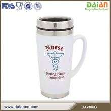 insulated double wall coffee bean tumbler with handle