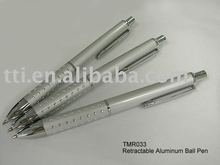 Ball Pen Retractable Aluminum promotional item logo metal pens SA8000 Sedex factory audit