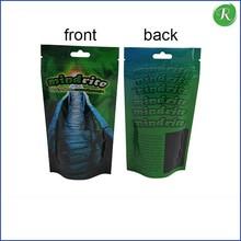 2015 plastic products aluminum printing clear plastic zipper bag with handle/plastic bag with ziplock/aluminum foil zipper bag