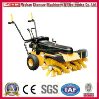 manual Gasoline sweeper SSG65100 6.5hp snow sweeper , road sweeper ,mini street sweeper with CE EPA SG certificate