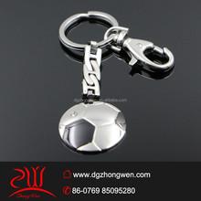 custom metal football keychain stainless steel soccer ball keychain