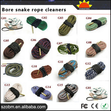 2015 Trade Assurance Supplier Brand Customized different type and size Hunting Rifle Bore Snake Rope Cleaners