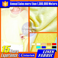Low price high quality linen fabric shrit or girls dresses