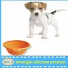 2015 new portable silicone dog bowl folding pet bowls/ rubber dog bowl