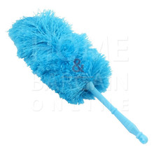 SOFT MICROFIBRE CLEANING DUSTER WITH HANDLE HOME OFFICE CAR DUST DIRT CLEANER