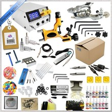 Complete Tattoo Kit ,2 Rotary Tattoo Machines Set With Power Supply and 15 Color Inks TKT101