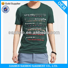 Fashion Blank Outdoor T Shirts Leisure Style OEM Your Own Design Muscle Fitting