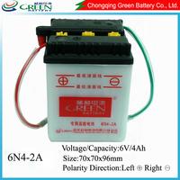 6N4-2A Best price 6v 4ah sealed lead acid battery