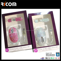 high quality computer jewelry mouse,crystal decorate pc mouse,usb jewelry mouse--MO7008--Shenzhen Ricom