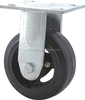 heavy duty caster solid rubber with iron core caster