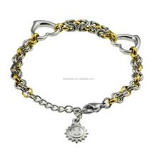 Wholesale Stainless Steel Heart & Sun Bracelet for Women Girls Men zz90