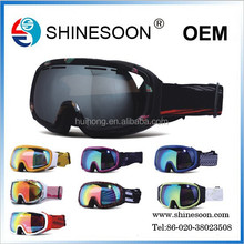 Hot sale chinese motorcycle & ski photochromic goggles with elastic goggle strap