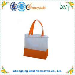 double color pp woven/non woven bag shopping bag