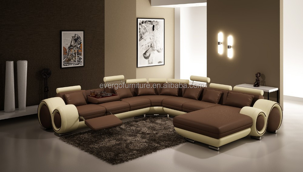 evergo moderne erhitzt leder wohnzimmer design beige orange chaise sitzgruppe wohnzimmer sofa. Black Bedroom Furniture Sets. Home Design Ideas
