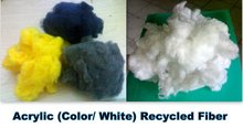 acrylic (color/ White) recycled fiber