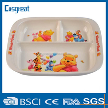 high quality cartoon melamine serving trays fro Children