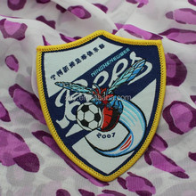 embroidery patch soccer logo backing glue