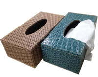 Hotle PU leather Tissue Box, tissue box for gift,Leather stock tissue box