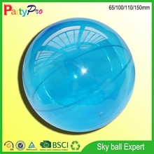 2015 new products Alibaba China Custom bouncing plastic hollow ball with compressed air inside