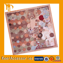 Fashion designs printed wool hanky,wool handkerchief