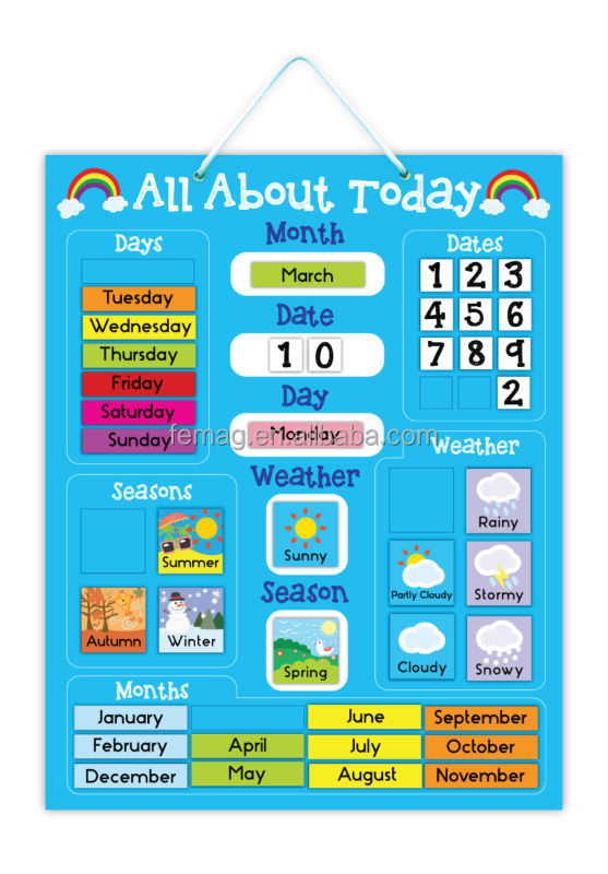 Children S Calendar Weather Chart : E hot brand new for kids baby and child calendar