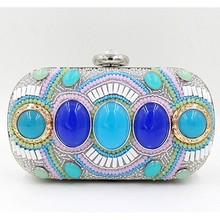Beaded and sequin handbags gem evening bags luxury clutch bag for ladies EB523