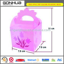 Cake pop boxes wholesale custom eco-friendly recyclable PP plastic food container pink small birthday cake box packaging handles