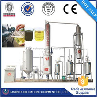 high profit and low risk small scale engine oil purifier