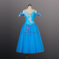 Hot Sale Tutus For Girls Performance Romantic Ballet Tutu Group Dance Costumes Ballerina Dance Blue Tutu