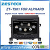 ZESTECH 9 inch double din car dvd player for TOYOTA ALPHARD accessories with GPS Navigation