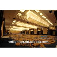 Modern Colored Glass Crystal Lighting for Hotel Lobby Decoration