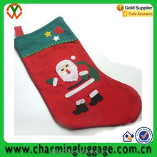 santa clause christmas sock/factory direct sale christmas gift bag wholesale