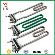 Electric water immersion heating element for washing machine