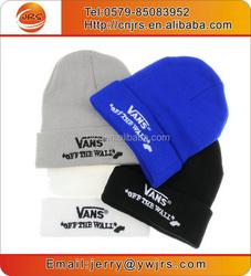 Wholesale custom logo beanie hat/winter promotional beanie hat