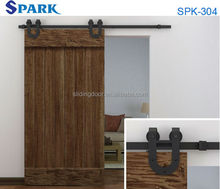China Supplier Antique Rustic Style Wrought Iron Sliding Latest Design Wooden Doors