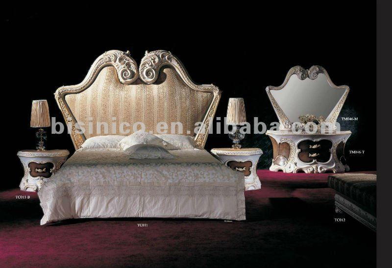 luxury european bedroom set king bed night stand dressing table and