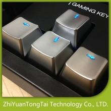 Transparent silver metal key caps mechnical keyboards