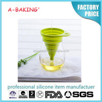 Silicone ruber funnel homeware appliance can be use on vases glass