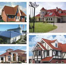 famous manufacture steel roof tile with nature stone