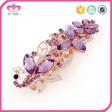 Wholesale great metal barrette hair clips with stone