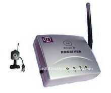 2.4GHZ WIRELESS PINHOLE COLOR CAMERA PLUS 4 CHANNEL RECEIVER(WL-24PH)