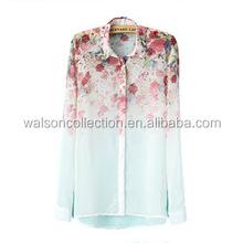 2015 Instyles Summer Chiffon Sleeveless Blouse and Top Woman's shirt Hot photo Cheap WomWholesales