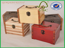 wholesale wooden custom-made gift box with handle