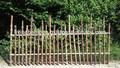 cerca de bambu pequeno