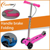 foldable mini micro scooter pink with hand barke