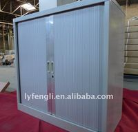 Small Roller Shutter Door Stainless Steel Filing Cabinet with 2 Partitions
