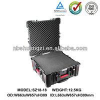 Hard waterproof instrument case for equipment