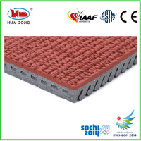 13mm prefabricated synthetic rubber runway surfaces for outdoor sports areas