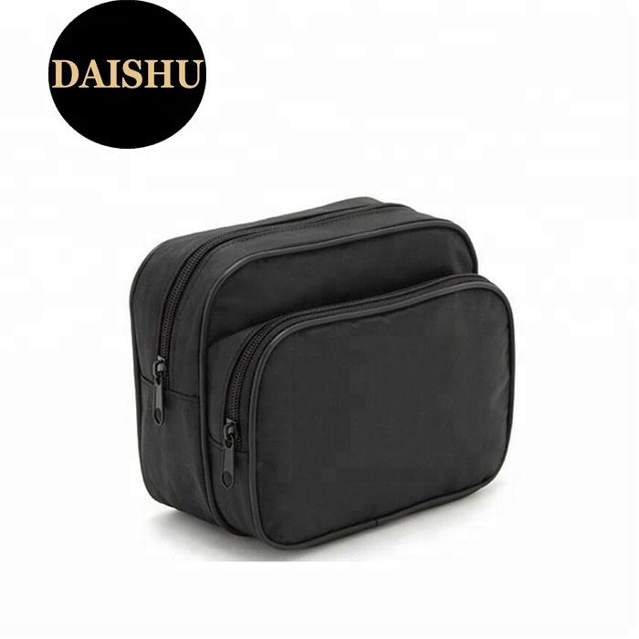 Профессиональный Черный Мужская сумка из микрофибры Несессер для макияжа Набор